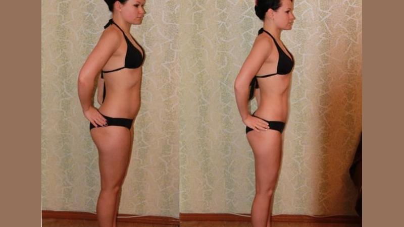 Фото до диеты и результат после нее
