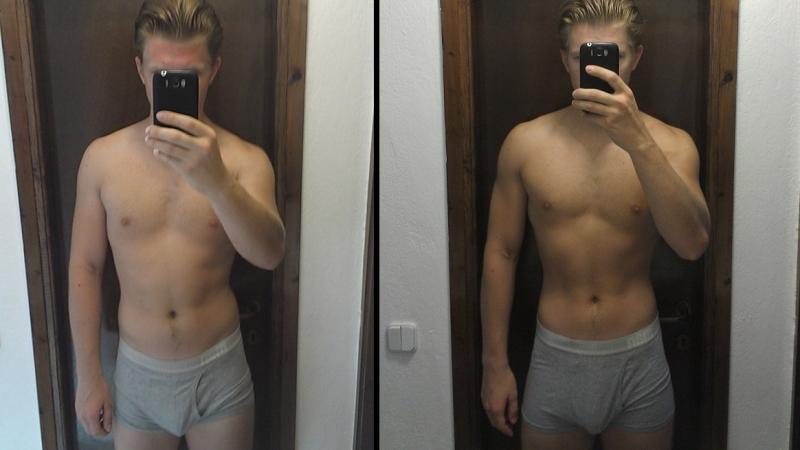Результат у мужчины после применения белковой диеты