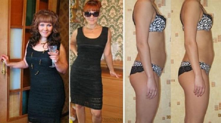 Фото с результатами до и после соблюдения водной диеты