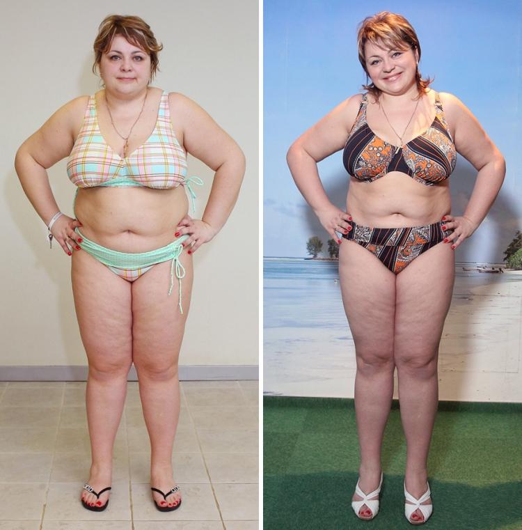 Фото похудевших на кефирно-яблочной диете