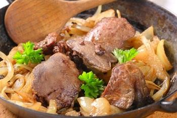 Рецепт приготовления свиной печени - пошаговая инструкция