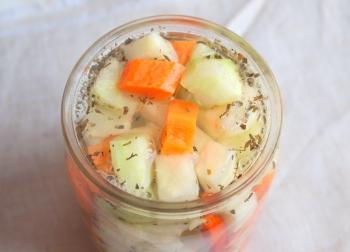 Рецепт приготовления маринованного кольраби