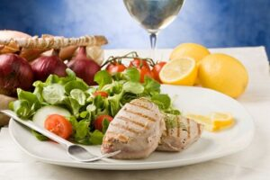 Диетическое мясо с овощами