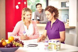 Женщины обсуждают меню
