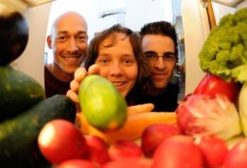 В холодильнике овощи