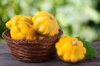 Желтые патиссоны