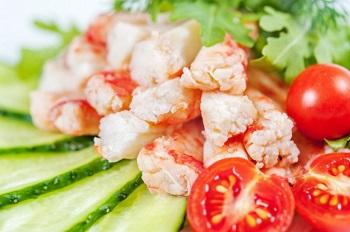 Морепродукты и овощи