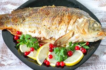 Рецепты приготовления сазана - рыба запеченная в духовке