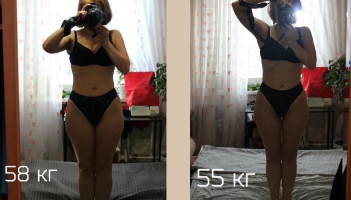 Результат похудения с диетой Дюкана
