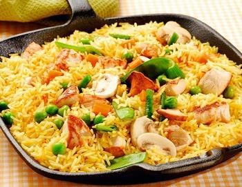 Средиземноморская диета - овощная паэлья с филе цыплёнка