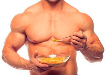 Диета для набора мышечной массы - список продуктов для мужчин