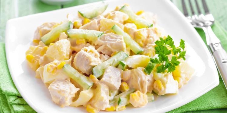Польза и вред Пикши - приготовление салата из рыбы и ананаса