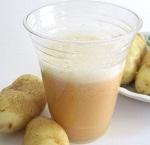 Полезные свойства картофельного сока и состав целебного напитка