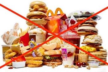 Запрещенные продукты при соблюдении диеты после инсульта